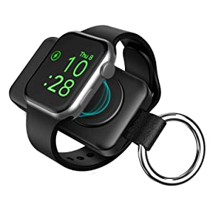 Portable Wireless Charger for Apple Watch, iwatch Charger 1400mAh Smart Keychain Power Bank, Compatible for Apple Watch Series 6/SE/5/4/3/2/1
