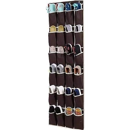 JYHY Étagère à chaussures à 24 poches - Poches en maille filet robuste à suspendre - Support de rangement pour placard
