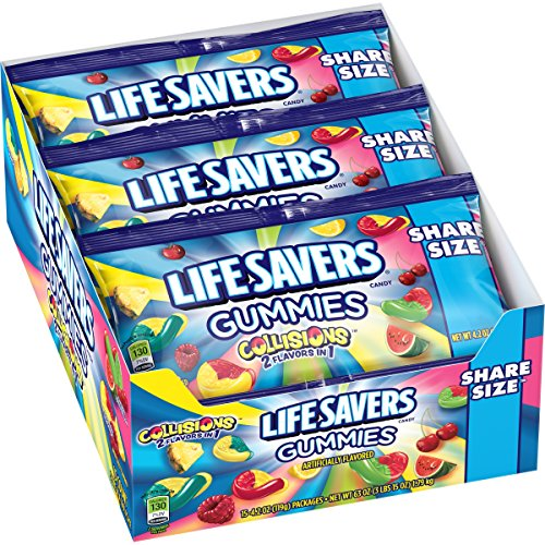 Lifesavers Gummies Collision Pouches, 4.2 Ounce (Pack of 15)