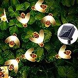 Guirnalda de Luces Solares,Lámparas Decorativas Jardin,50 Luces Led Dulces 7 m,Luces de Hadas,Cadena de Luz Solar Exterior,Luces Led Solares Jardin