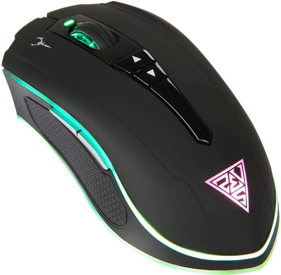 GAMDIAS Optical Gaming Wired/Wireless Mouse Double Level RGB, Hera Software Supported, 7 Programmable Keys, Adjustable 10800 DPI (Hades M1)