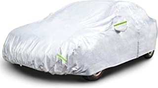 """AmazonBasics Silver Weatherproof Car Cover - 150D Oxford, Sedans up to 180"""""""