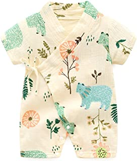 PAUBOLI Kimono Robe Newborn Cotton Yarn Robe Baby Romper Infant Japanese Pajamas