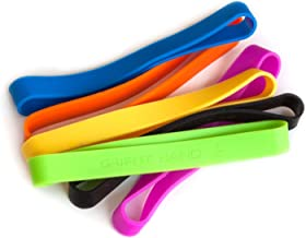 Grifiti Band Joes 6 inch Standard 5 Pack Assorted Colors Long Lasting Silicone Rubber Bands Hot Cold UV Outdoor Resistant Cooking Books Game Boxes Wrapping Dundling