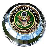 motordog69Harley Gas Cap moneda pantalla plana Set con ejército veterano para Softail Dyna Road King Sportster......