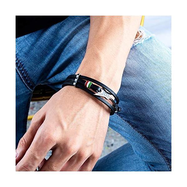 AIZU Mens Leather Guitar Bracelet 2