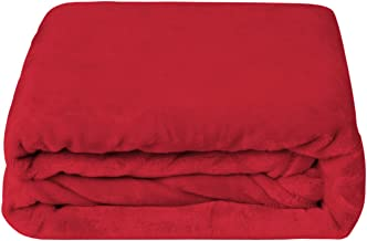 Berkshire Blanket Ultra-Lush VelvetLoft Blanket Plush Throw, Rustic Red