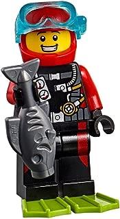 LEGO City Beachgoer MiniFigure: Scuba Diver (w/ Silver Fish) 60153