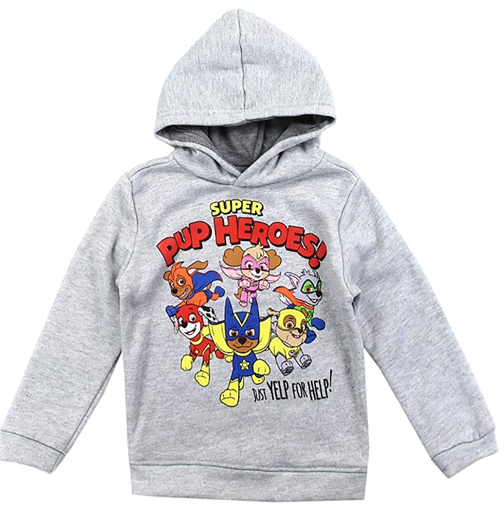Toddler Paw Patrol Pullover Hoodie Sweatshirt, Super Pup Heroes