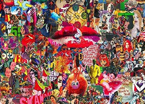 """JUNIQE® Pop Art Leinwandbild 20x30cm - Design """"Kiss, 2010"""" entworfen von Gothans Papierwelten"""