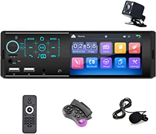$59 » Single Din Car Radio Bluetooth 4.1 Inch Touch Screen HD 1080P 1 DIN Car Audio AM FM Receiver Head Unit Support MirrorLink,...