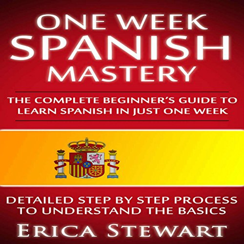One Week Spanish Mastery audiobook cover art