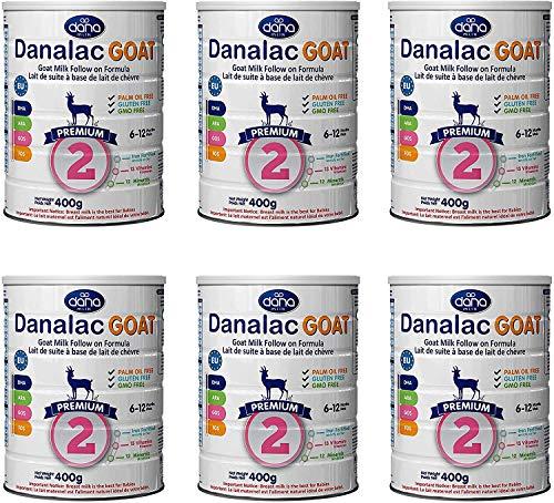Danalac Étape 2 Lait de Chèvre Formule de Suite en Poudre pour 6-12 Mois Bébés 400 g