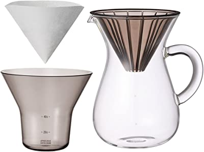 1.1 Liter Carafe Coffee Set with 20 Filters by Kinto for Slow Coffee by Kinto