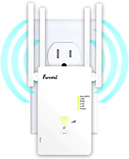 WiFi Booster 1200Mbps WiFi Extender 5GHz &2.4, Covers 1500Sq.ft, WiFi Range Repeater for Home, 4 Working Modes Wi-Fi Route...