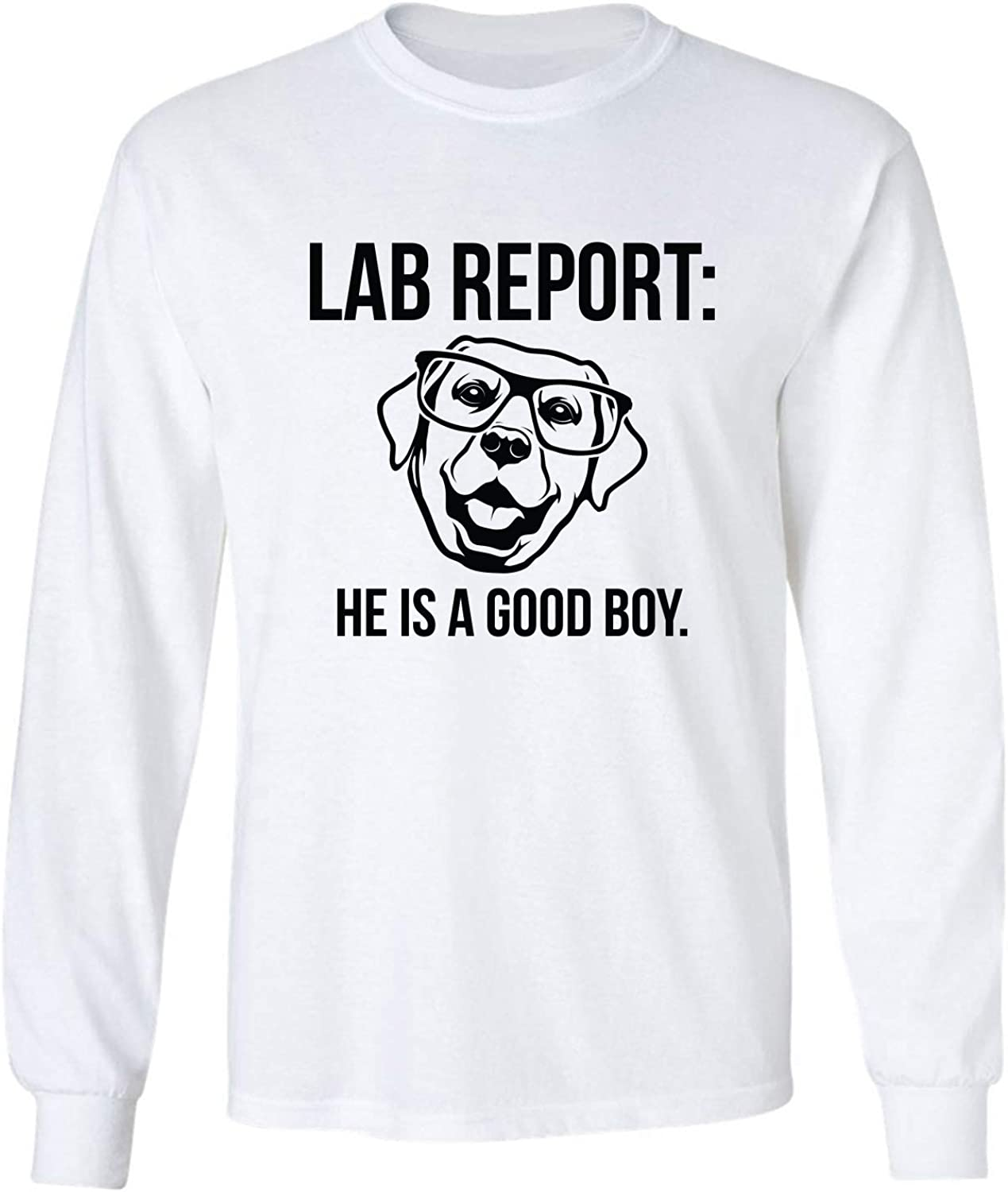 Lab Report Adult Long Sleeve T-Shirt in White - XXX-Large