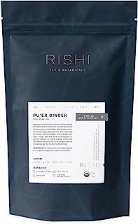 Rishi Tea Pu'er Ginger Loose Leaf Herbal Tea - Heart Health Support, Organic, Digestion Relief, Nutrient Dense, Caffeinate...