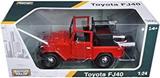 Motormax Toyota Fj40 Convertible Red 1/24 Diecast Model Car By