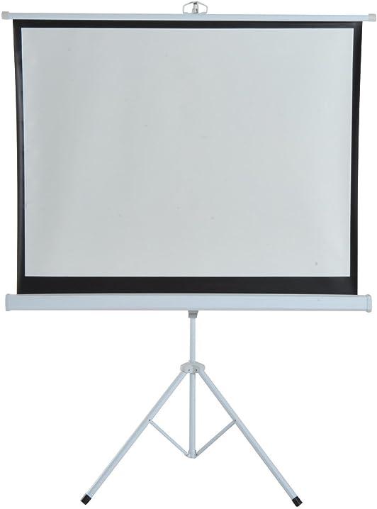 Schermo di proiezione 120 pollici con treppiedi formato 4:3 homcom IT001-0090631
