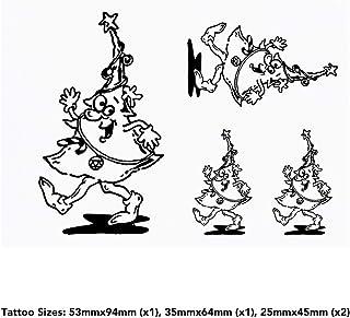 4 x 'Walking Christmas Tree' Temporary Tattoos (TO00035865)