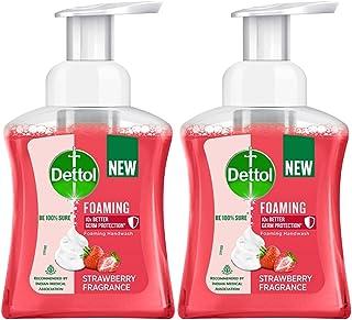 Dettol Foaming Handwash Pump - Strawberry (Pack of 2-250ml each) | Rich Foam | Moisturizing Hand Wash | Soft on Hands