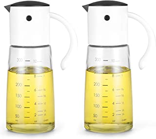 Olive Oil Dispenser Bottle for Kitchen Cooking - Auto Flip Condiment Container With Automatic Cap and Stopper - Leakproof ...