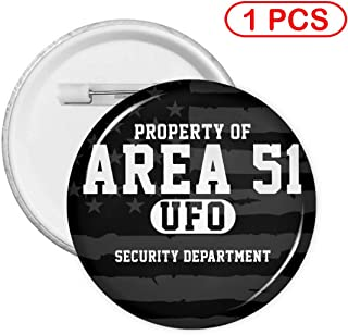 5 Pcs Round Badge Button Badge Pin Button - Area 51 Security Department
