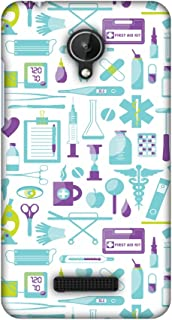 Micromax Canvas Spark Q380 Case, Premium Handcrafted Designer Hard Shell Snap On Case Shockproof Printed Back Cover for Micromax Canvas Spark Q380 - Doctor Pattern 1