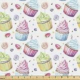 Lunarable Retro-Stoff von The Yard, bunte cremige Cupcakes