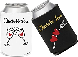 12 Pack Beer Can Sleeve, Insulated Beer Covers for Drink, Soda Coolies Sleeves, Engagement Gift for Couples