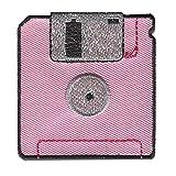 Parches - Disquete Floppy - varios colores seleccionables - 5,5 x 5,5 cm - by catch-the-patch® termoadhesivos bordados aplique para ropa, Farbvariante:rosa claro