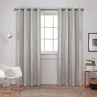 Exclusive Home Curtains Carling Basketweave Textured Woven Blackout Window Curtain Panel Pair with Grommet Top, 52x96, Van...