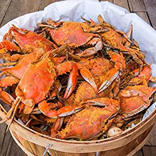 Maryland Blue Crabs Females Sook Steamed (1 Dozen)