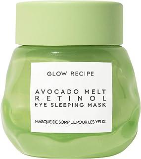 Glow Recipe Avocado Melt Retinol Eye Sleeping Mask - Overnight Eye Cream with Niacinamide + Coffeeberry - Wrinkle Fighting...