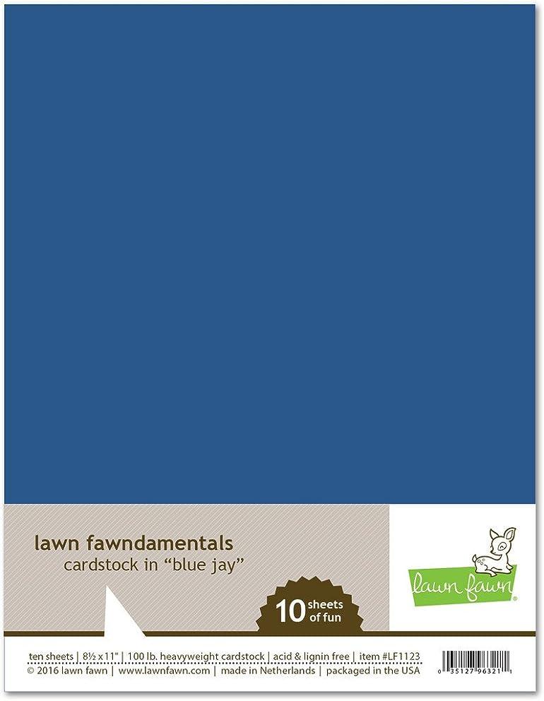 Lawn Fawn 100lb Cardstock LF1123 blue jay (10 sheets)