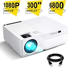 Projector, CiBest Native 1080p LED Video Projector 6800 Lux, 300 Inch Image Display Ideal..