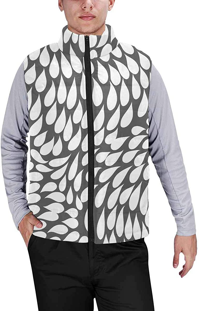 InterestPrint Men's Soft Stand Collar Jacket for Fishing Hiking Cycling Black and Gold