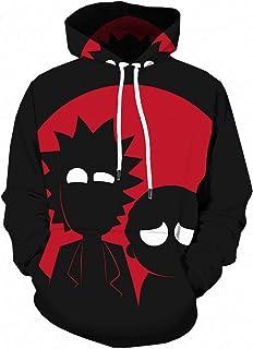 HOSD Digital 3D los Chaqueta Deportes impresión de Hombres Suéter Animados Capucha Dibujos con Anime suéter Negro