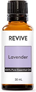 REVIVE Essential Oils Set For Diffuser, Humidifier, Massage, Aromatherapy, Skin & Hair Care - Lavender - 30 mL / 1 Ounce