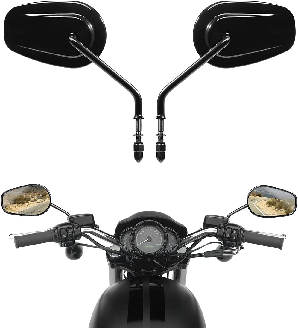 SLMOTO Black Rear View cheap Side Mirrors Fit Tou for Harley King Road Free shipping