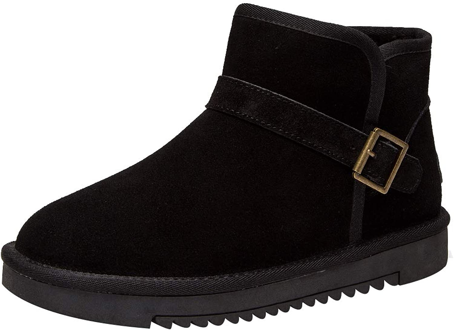 Ggudd Woman's Winter Classic Comfortable Ankle Snow Boots