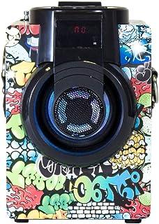 Music Life Altavoz Karaoke Bluetooth Portátil Inlámbrico USB Tarjeta TF Recargable con Radio FM (255-2)