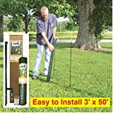 TEMPORARY FENCING KIT – 50' x 36' – No tools, Quick and Easy to Install, No Slipping or Sagging, Reusable.