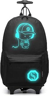 Kono Anime Cartoon Luminous música Boy Backpack Escuela