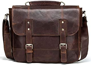 Retro Cowhide Man Single Shoulder Bag Horizontal Style Personality Leather Men's Hip Cross Bag (Color : Brown, Size : S)