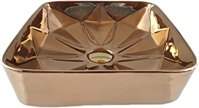 STM Ceramic Wash Basin (14 inches_Brown)