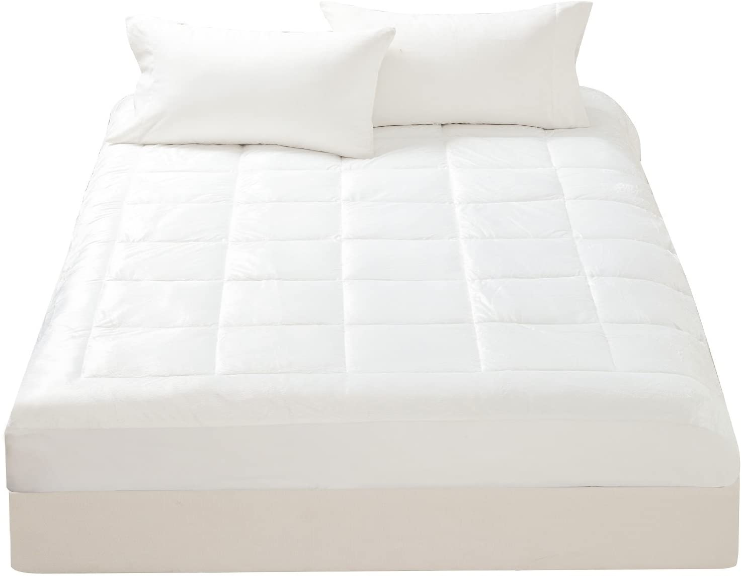 overlay Fully Fitted Queen Size Micro fibre filled Mattress topper