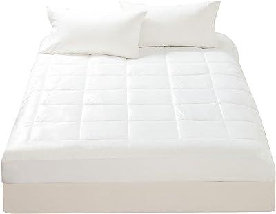 mellanni Microplush individual–Super suave Cover, overfilled Topper, protector–lavable, profundo bolsillo (Twin), Blanco, King, 1