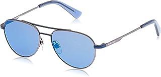 نظارات شمسية للجنسين من ديزل DL029192X50 - ازرق/ ازرق معدني عاكس