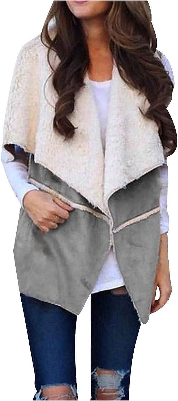 VonVonCo Cardigan Sweaters for Women Vest Winter Warm Wear A Hat Outwear Casual Coat Artificial Zip Up Coat Jacket